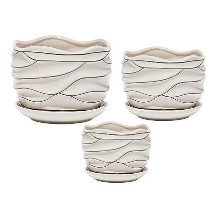 Amazon.com: Macetas de cerámica para plantas de jardín ...