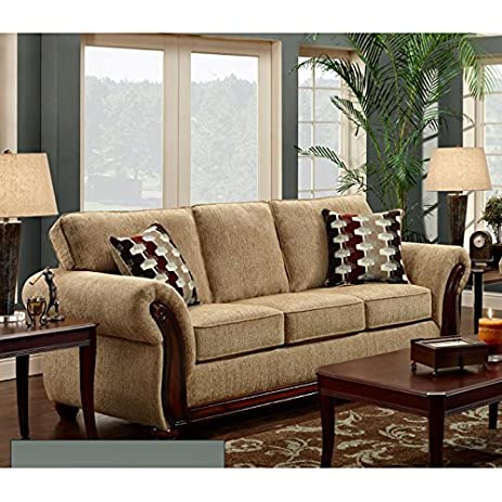 Amazon.com: Chelsea Home Furniture Courtney Sofa, Radar ...