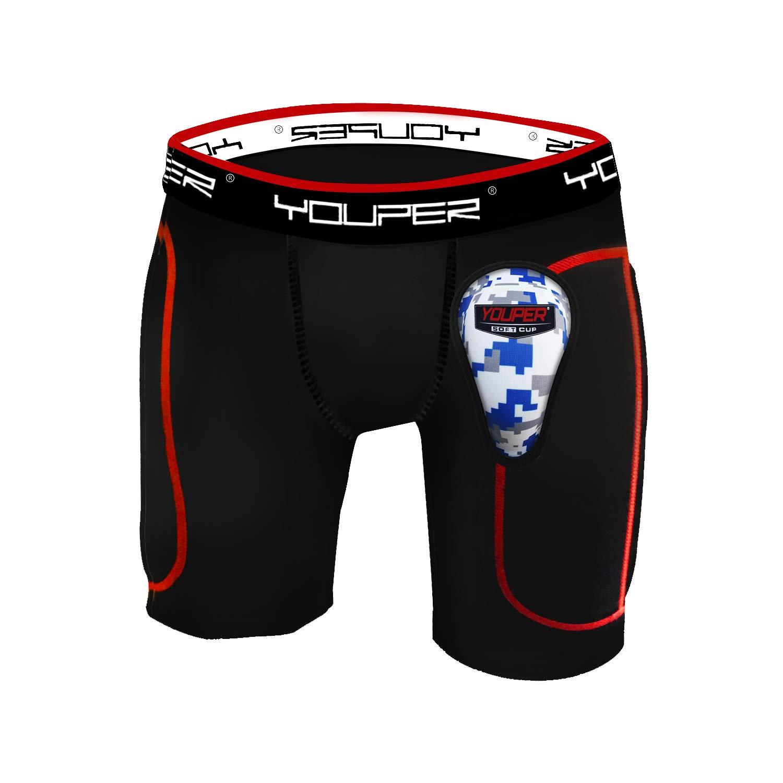Youper Boys Youth Padded Sliding Shorts with Soft