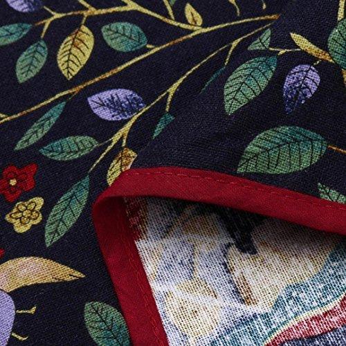 Shirts T en Imprim Femme Shirts MVPKK Pull Manches T Longues Chic Tops T Shirts Floral Femme Femme T Chanvre Hiver Noir Bohme Chic Shirts lgant Automne de Femme Coton Chemise xqqOZI