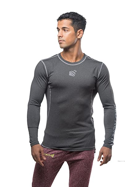 9dab0535f Jed North Men's Long Sleeve Tee Compression T Shirt Bodybuilding Workout  Slim Fit…