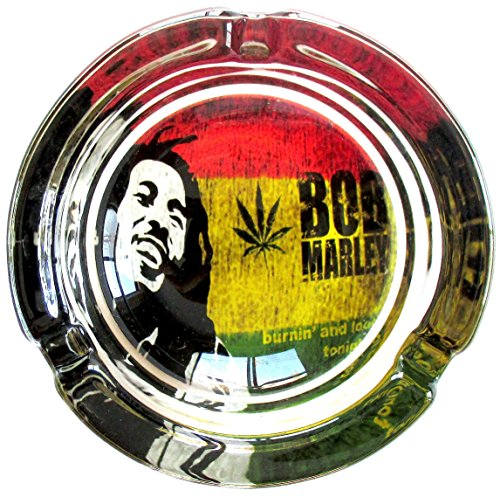 Bob-Marley-Concert-Series-Marijuana-Weed-Round-Glass-Ashtray