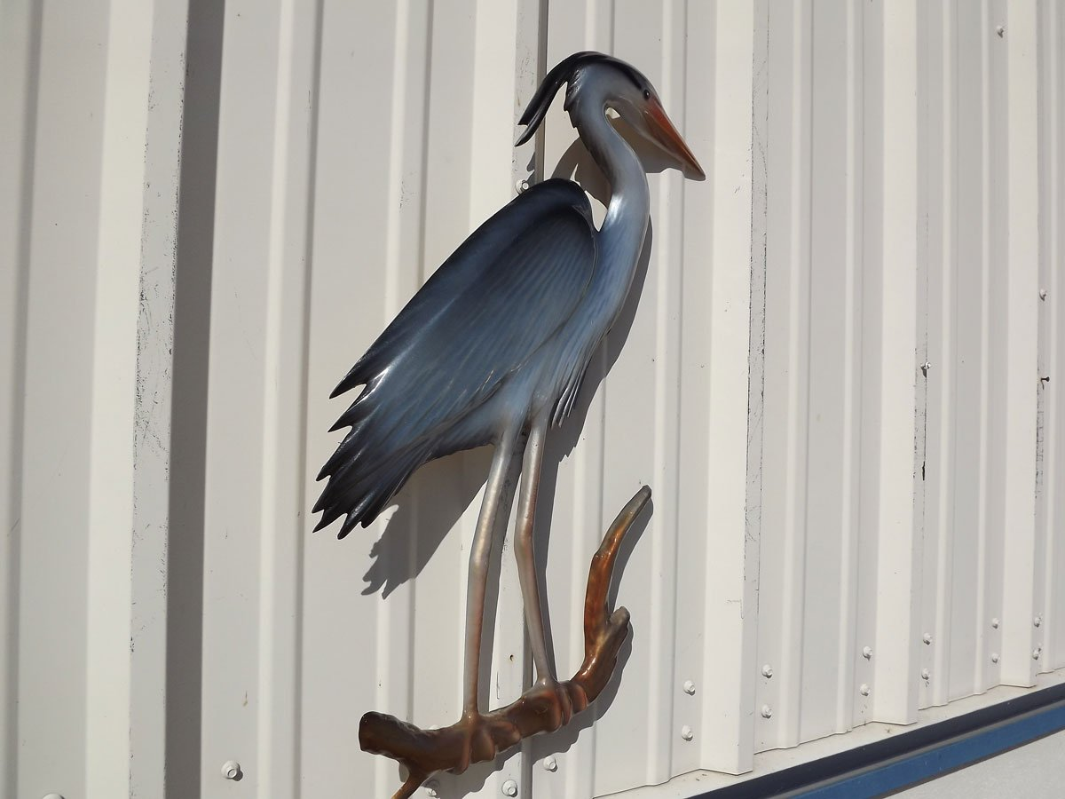 28'' Blue Heron Half Mount Replica , Fishing Wall & Coastal Decor by Mount This Fish Company (Image #4)