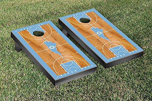 North Carolina Tar Heels Regulation Cornhole Game Set Basketball Court Version - College Basketball Board Game