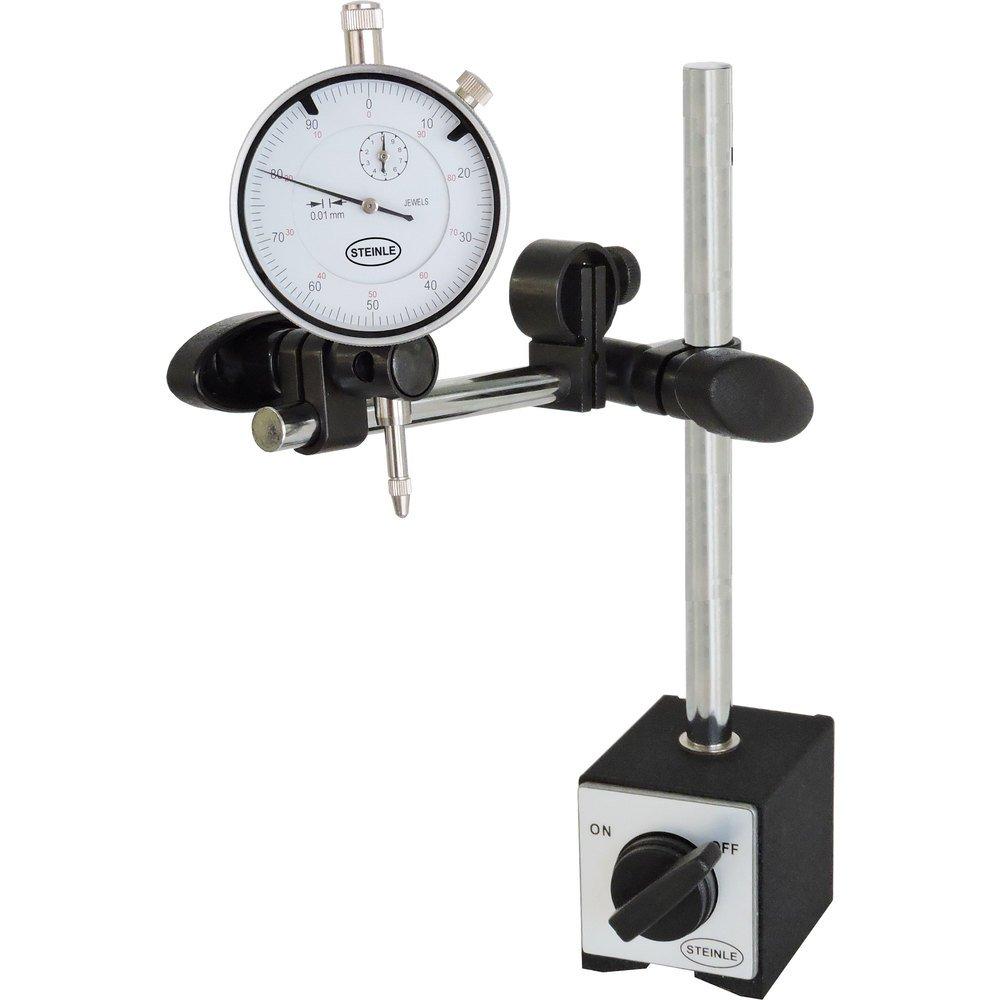 Steinle Tr/épied Pied /à magn/étique standard avec Steinle mesure Horloge en kit Plage de mesure 10//0,01/mm poids 1,84