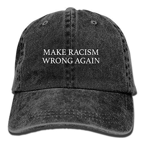 omized Unisex Make Racism Wrong Again Vintage Jeans Adjustable Baseball Cap Cotton Denim Dad Hat ()