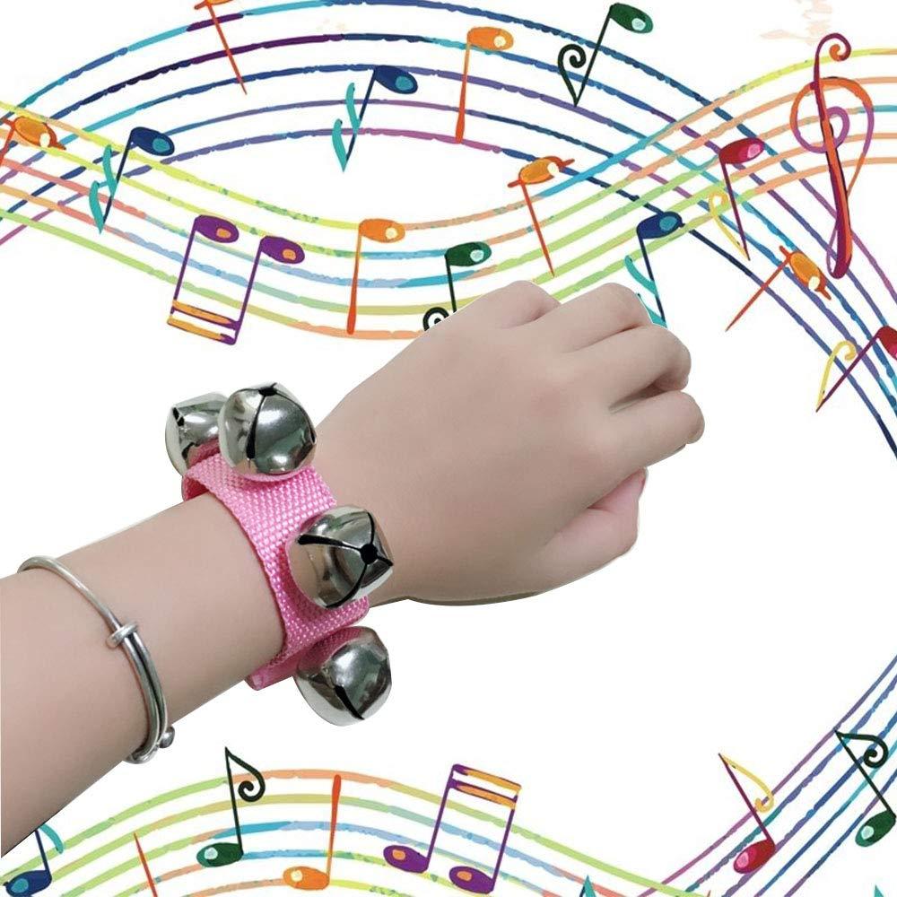 Be Valiant Wrist Bell Band Jingle Bells Musical Rhythm Toys 6 Colors 6pcs