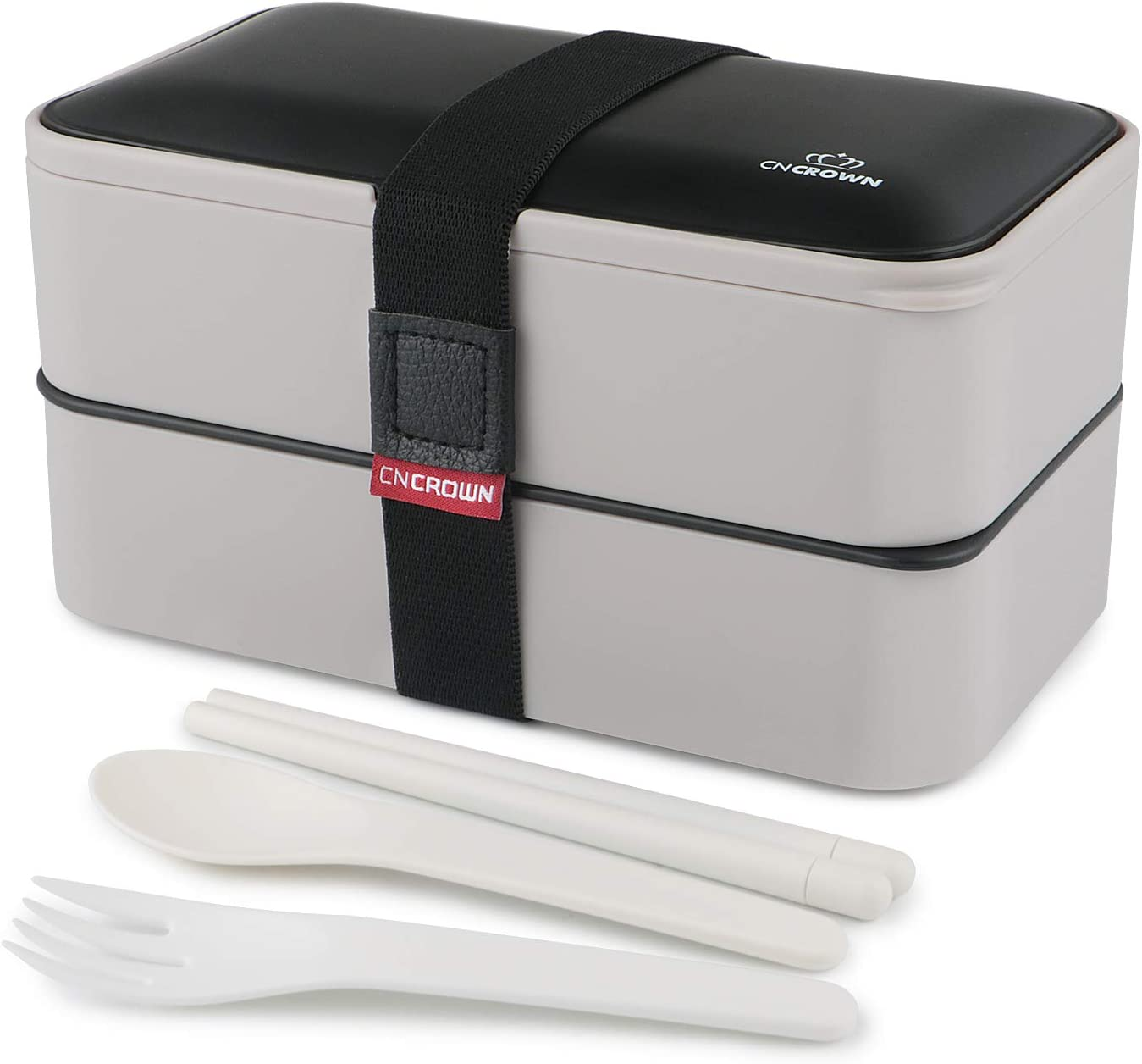 Santoi Lunch Bento Box 2-Compartment Hermetic with Reusable Cutlery Lunch Boxes Container for Adults Kids Suitable for Microwave, Freezer and Dishwasher Healthy,Durable and Portable