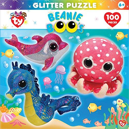 MasterPieces Beanie Boo Glitter Ocean Club Puzzle, 100-Piece (Beanie Boos Sports)