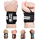 BEAR GRIP - High quality Premium weight lifting wrist support wraps, (Sold in pairs)