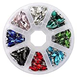 YOKO Jewels 7x15mm Navette Crystal Glass Sew On Rhinestone with Silver Color Prong Setting pack of 160