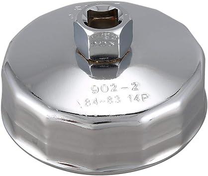 Naliovker 84mm 14 Manchon de cle de Bouchon du Filtre a Huile Outil pour Voiture vehicule