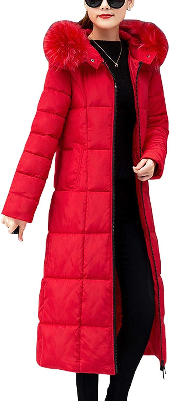 B07XXY2NZS chouyatou Women's Winter Thick Fur Hooded Maxi Long Alternative Parka Down Coat 612pSTNmTuL