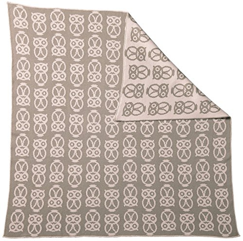 (Serena & Lily Owl Baby Blanket- Shell)