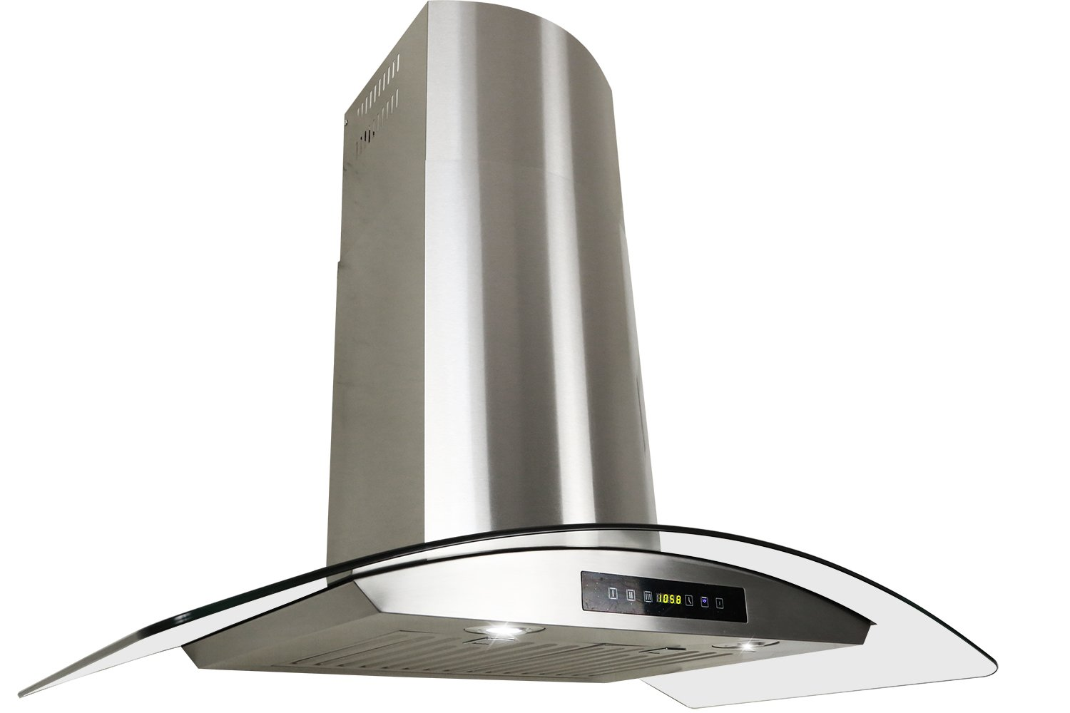 Golden Vantage Stainless Steel 30 Euro Style Wall Mount Range Hood LED TOUCH SCREEN W//Baffle Filter GV-H703C-B30