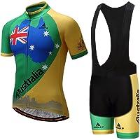 Uriah Men's Cycling Jersey and Black Bib Shorts Sets Short Sleeve Reflective