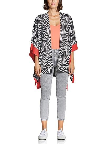 Street One Damen Sweat-Cape im Zebra-Look