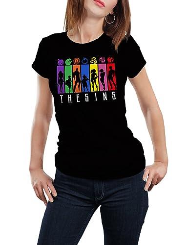 The Sins - T-shirt Donna - 100% Cotone - Titanium's Landing