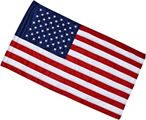 """2.5x4 Ft American Flag (Pole Sleeve Flag)   100% Made in USA   2.5'x4' US Flag in Heavy Duty Outdoor Nylon - UV Fade Resistant - Embroidered Stars, Sewn Stripes 2"""" Pole Hem"""