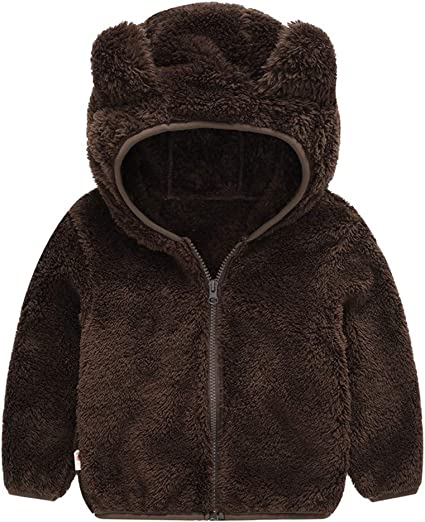 Cappotto con Cappuccio Bambini Ragazze Ragazzi Giacca Invernale Caldo Giubbotto Mantello Neonata Baby Girl Warm Coat Abbigliamento da Bimbi Regalo 1-4 Anni
