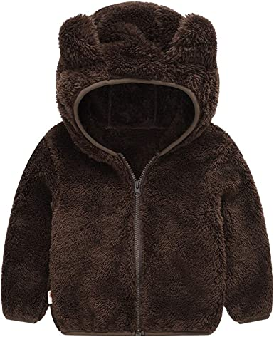 Lurryly❤Unisex Jackets,Boys Girls Winter Children Leather Windproof Coats Outwear Hooded for 1-6 T