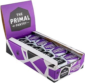 The Primal Pantry Barritas Proteinas - 15x55g - Proteina vegana, 15g Proteina, Barritas Energeticas Ciclismo, sin gluten, 100% Natural, Paleo (Cocoa ...