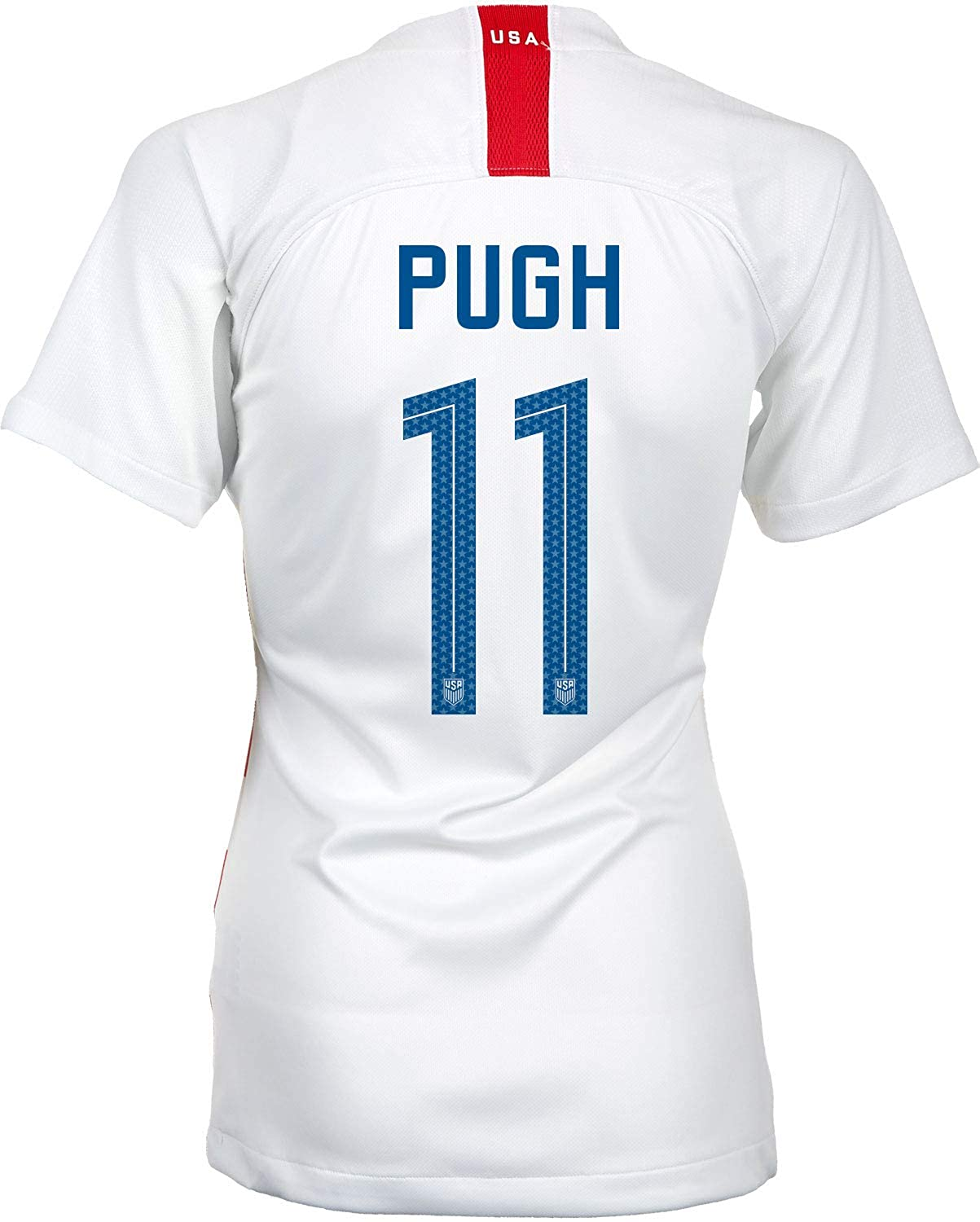 6a5af865309 Amazon.com: Nike USA 2018 Home Womens Soccer Jersey Mallory Pugh #11 Womens  Large: Clothing