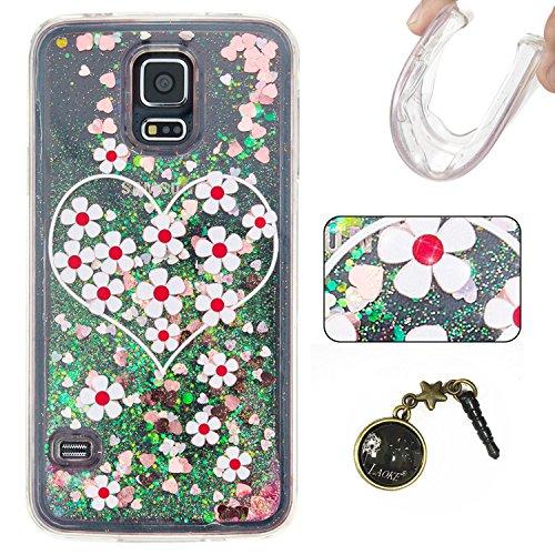 Para Samsung Galaxy S5/i9600móvil, 3d fließen líquido para trucha, arenas movedizas estrella Bling Lujo Shiny brillo Sparkle Cristal Crystal Multicolor de amor diseño Satisfacción Bolsa Funda Para Sa 8