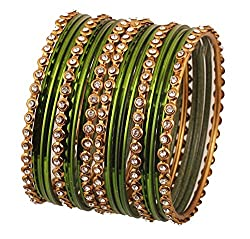 Indian Single Line Clear Rhinestone Bangles