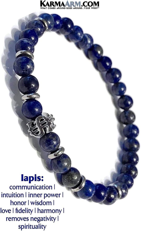 Home is Where The Heart is: Lapis KarmaArm Mantra Bracelet Reiki Healing Energy Boho Chakra Wrap Stretch Yoga Meditation Jewelry /& Zen Gifts Family Beaded Bracelet
