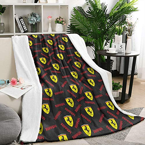 Cheap sdfjkoinj Ultra Soft Flannel Fleece Warm Blanket Ferrari-Official-site-car-Black- Weighted Blanket All Season Fleece Blanket 60 X 80 Inch Black Friday & Cyber Monday 2019