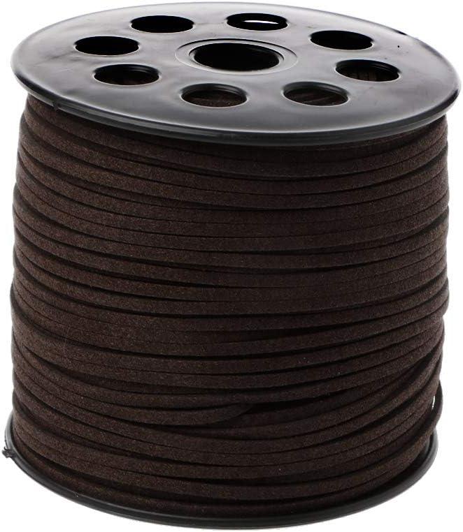 para Hacer Joyas Dark Coffee 3 mm 90 m Color marr/ón Oscuro Lamdoo Cuerda de Piel sint/ética 3 mm