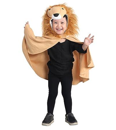 Löwen-Kostüm, An77 Gr. 74-98, als Umhang für Klein-Kinder und Babies, Löwen-Kostüme Fasching Karneval Fasnacht, Karnevalskost