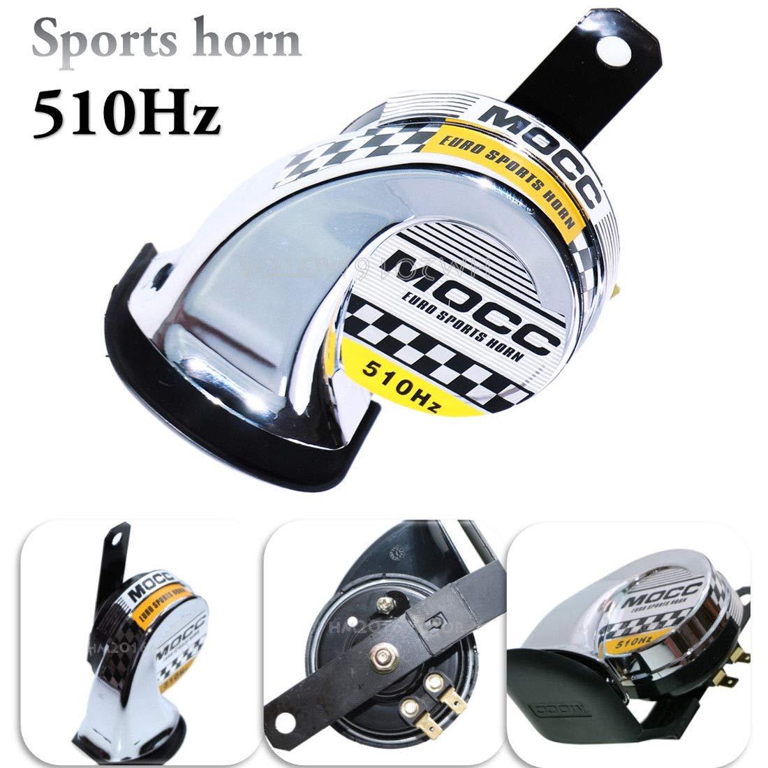 DC 12V 510Hz Sports Horn For Honda Shadow Sabre VT VF 700 750 1100