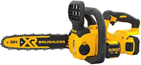 DEWALT 20V MAX XR Battery Powered Chainsaw Kit, 5-Ah Battery, 12-Inch (DCCS620P1)