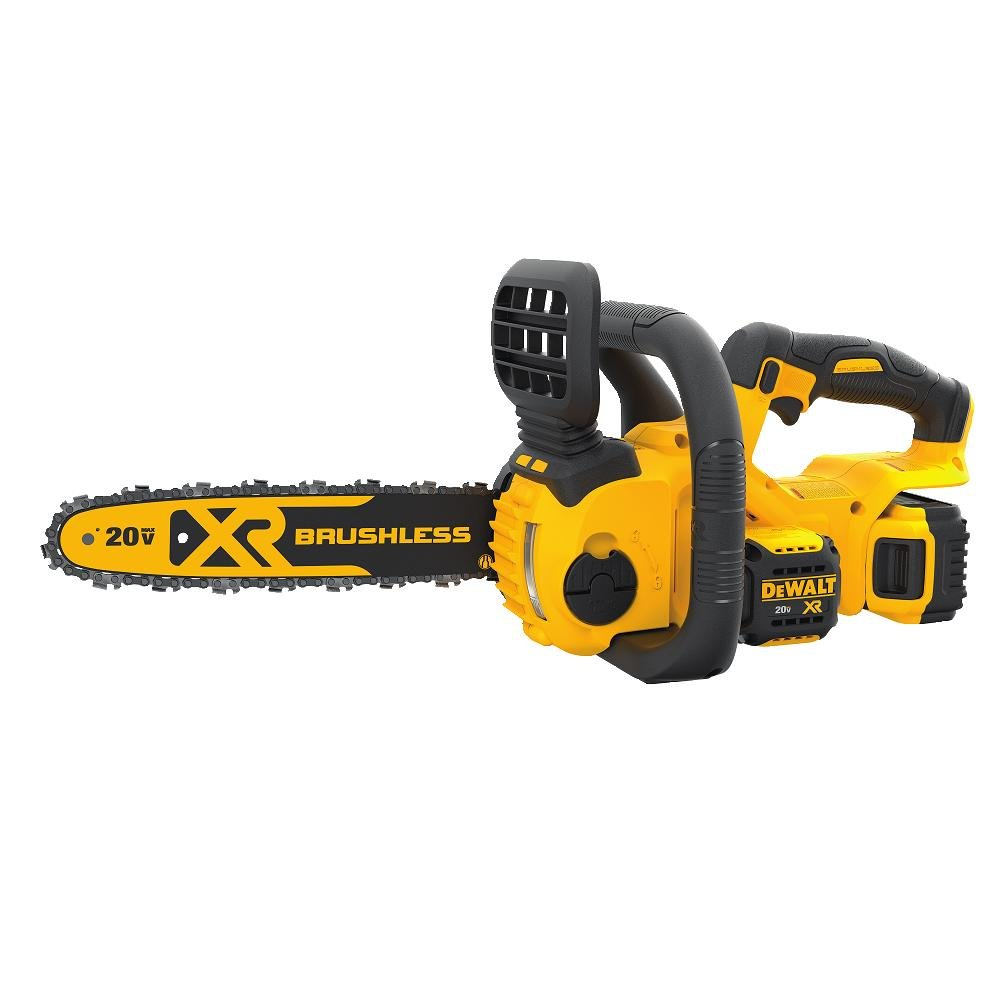 2.DEWALT DCCS620P1 20V MAX Lithium-Ion XR Brushless Cordless Chainsaw