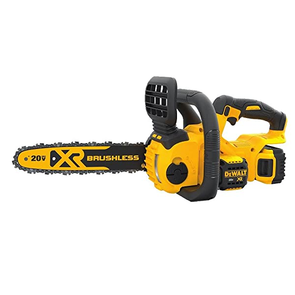DEWALT DCCS620P1 20V MAX Lithium-Ion XR Brushless Compact 12 in. Cordless Chainsaw Kit (5AH)