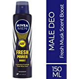 Nivea Men Fresh Power Boost Deodorant, 150ml
