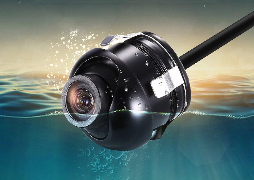 , PAL Ohne Distanzline CCD 360/° Grad R/ückfahrkamera Unterbau seite seitlich vorne Auto Kamera PAL NTSC Hintern