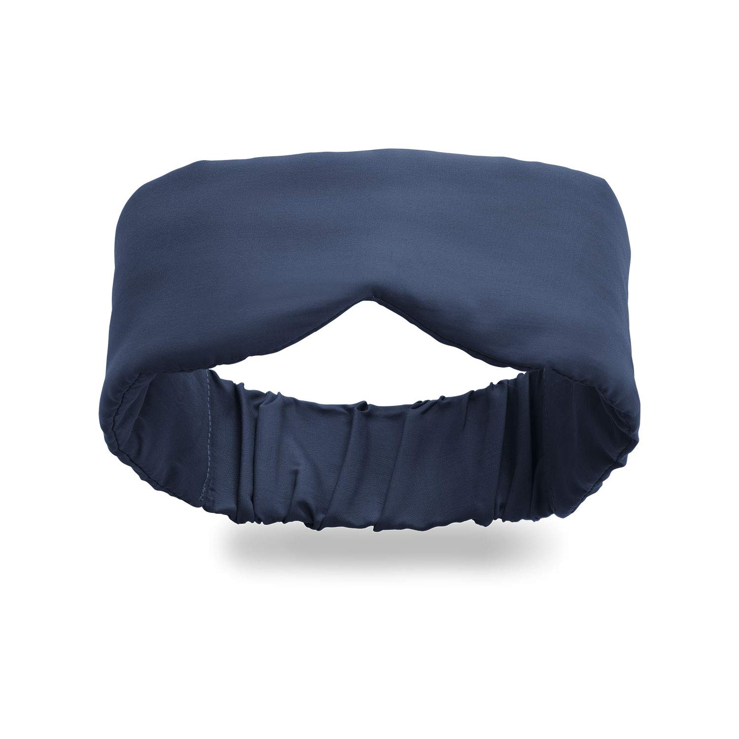 Infinity Travel - Bamboo Eye Mask Travel Sleep Mask - Super Soft Cool and Breathable - Machine Washable - Total Darkness (Navy) by Huzi