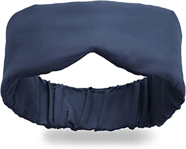Infinity Travel - Bamboo Eye Mask Travel Sleep Mask - Super Soft Cool and Breathable - Machine Washable - Total Darkness (Navy)