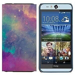 TECHCASE---Cubierta de la caja de protección para la piel dura ** HTC Desire Eye ( M910x ) ** --estrellas nebulosas del cielo cosmos trullo púrpura