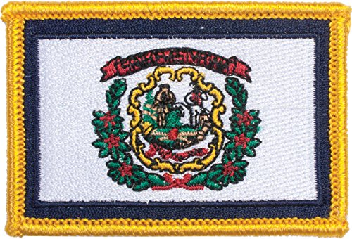 West Virginia Flag Novelty Patch with Gold Border