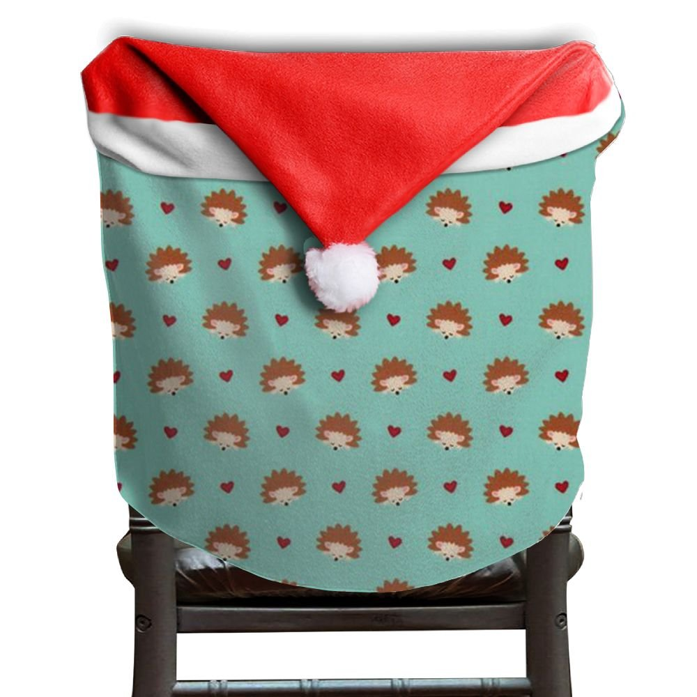 Hedgehog Animals Christmas Chair Covers STYLISH Comfort Touch Chair Covers For Christmas For Men And Women Armless Chair Slipcover Holiday Festive