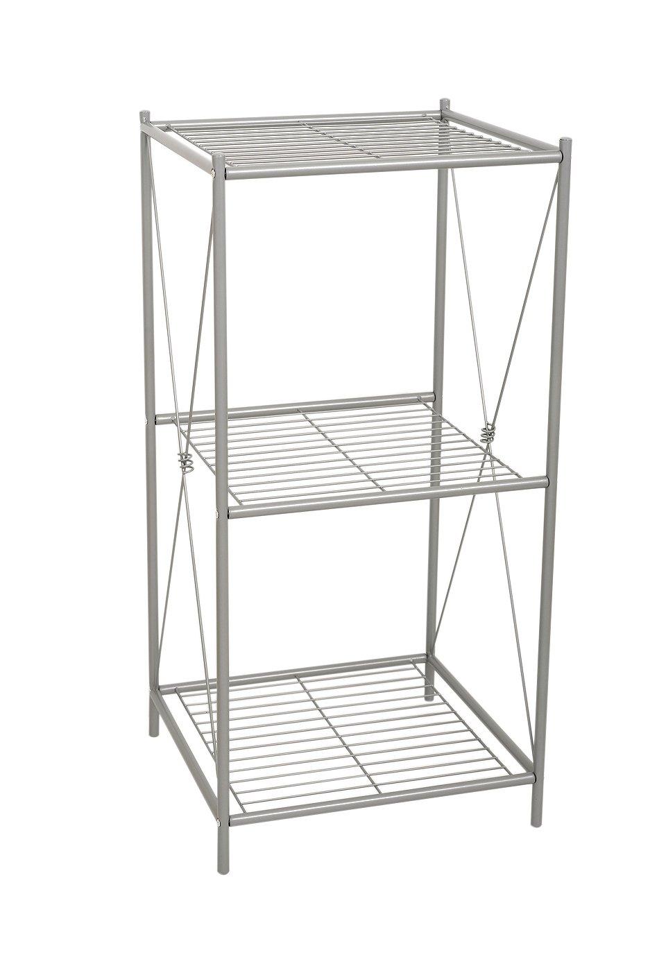 Zenna Home 2557NN, Cross Style Floor Stand, Satin Nickel