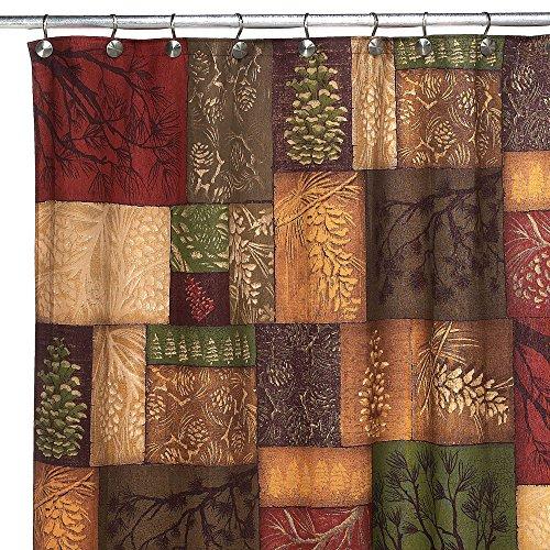 (Shower Curtain Pine Rustic Charm Bathroom Decor 100% Polyester)