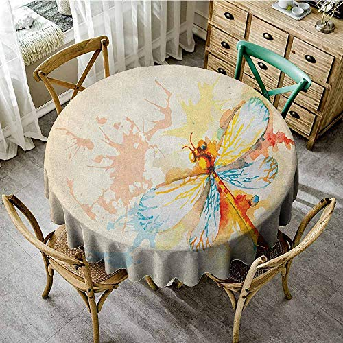 Round Tablecloth Waterproof Fabric 40