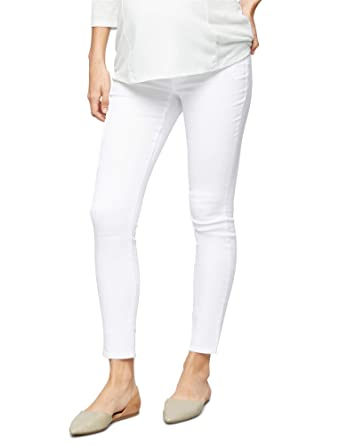 9612b3e65d9dd A Pea in the Pod Luxe Essentials Denim Secret Fit Belly Skinny Ankle  Maternity Jeans at Amazon Women's Clothing store: