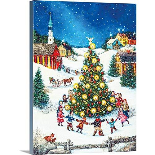 Linda Nelson Stocks Premium Thick-Wrap Canvas Wall Art Print Entitled Dancing Around The Christmas Tree ()