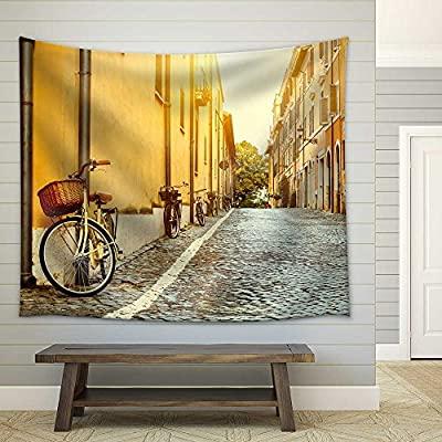 Old Street in Rome, Italy - Fabric Wall Tapestry Home Decor - 51x60 inches